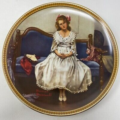 $ CDN12.52 • Buy Norman Rockwell Waiting At The Dance Rediscovered Women Vintage 1983 Plate