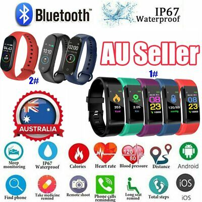 AU12.46 • Buy Smart Watch Band Sport Activity Fitness Tracker For Kids Fit Bit Android IOS AU