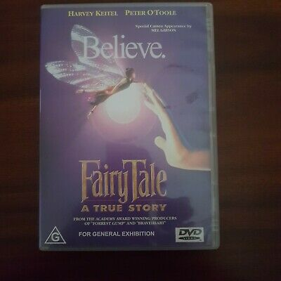 Fairy Tale A TRUE STORY Believe DVD Region 4 PAL Peter O'Toole • 7.37£