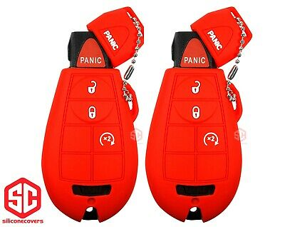 $ CDN23.95 • Buy 2x New Key Fob Remote Fobik Silicone Cover Fit - For Chrysler Dodge Jeep VW...