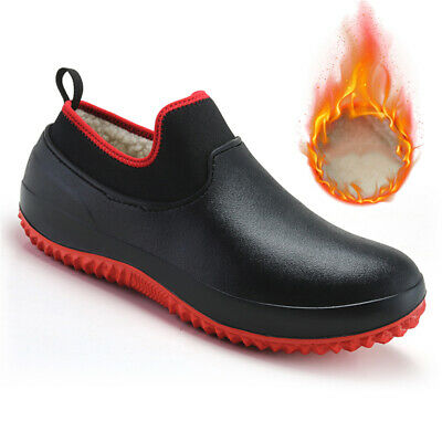 £23.98 • Buy Non-slip Chef Shoes Mens Womens Kitchen Safety Shoes Winter Lined Work Boots NEW