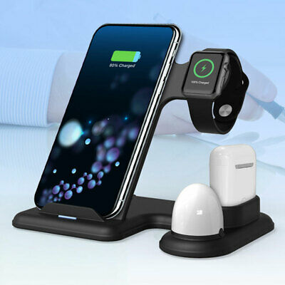 AU31.68 • Buy 💥3 In 1 Wireless Charger Stand Fast Charging Dock For IPhone Apple Watch AirPod