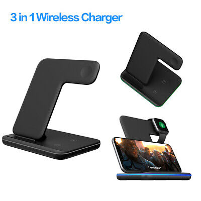 3 In 1 Wireless Charger Station Charging Dock Phone Mobile For Iphone Ipod Watch • 23.11£