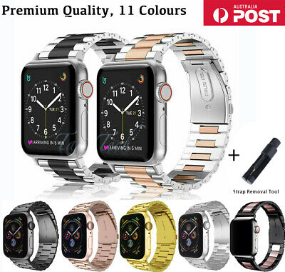 $ CDN15.46 • Buy Watch Band Stainless Steel Strap For Apple Watch IWatch Series 6/5/4/3/2 38-44mm