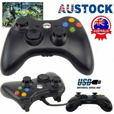 AU23.63 • Buy New Black Wired Controller For Xbox 360 Console USB Windows/PC AU STOCK AK
