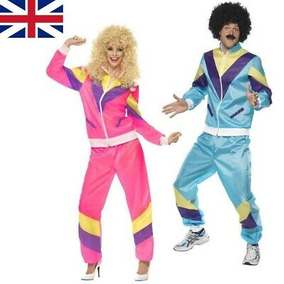Mens Womens Shell Suit Costume 80s 90s Scouser Tracksuit Stag Do Fancy Dress • 12.99£