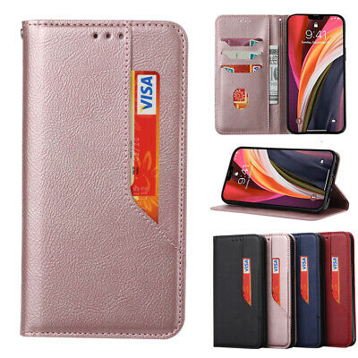 AU10.88 • Buy Magnetic Flip Leather Wallet Case Card Holder Cover For IPhone 11 12 Pro Max 6S