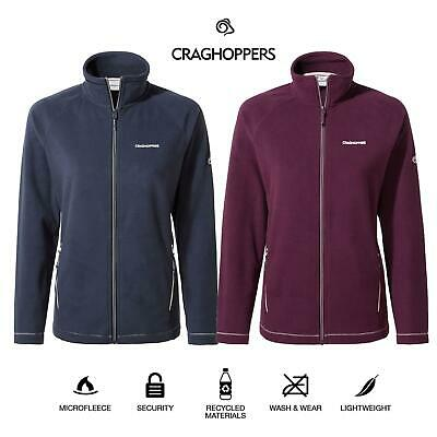 Craghoppers Womens Miska III Lightweight Full Zip Fleece Jacket Zipped Pockets • 29.99£