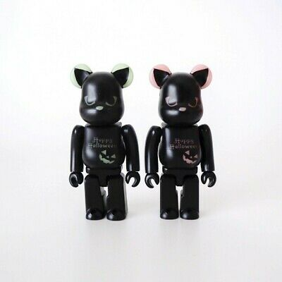 $72.66 • Buy Bearbrick 2016 Halloween Green / Red 100% 2 Body Set Without Box Used Goods Be