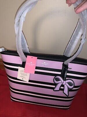 $ CDN140 • Buy Kate Spade New York Cassy Ottoman Street Leather Large Tote In Pink Multi New