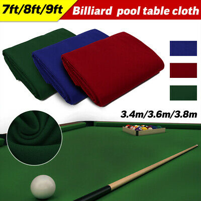AU60.29 • Buy Professional Snooker Billiard Pool Table Cloth Sports Game 7 8 9ft Cover Durable