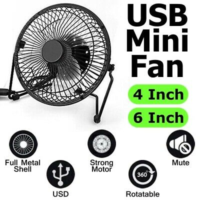 AU14.68 • Buy USB Powered Portable Table Fan Mini USB Desk Fan Small Quiet Personal Cooler