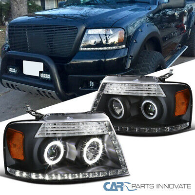 $138.95 • Buy For 04-08 Ford F150 06-08 Lincoln Mark LT Black LED Halo Projector Headlights