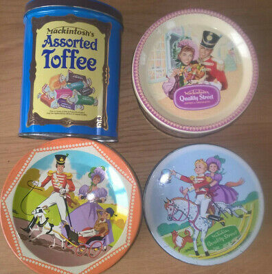 £20 • Buy Four Rowntrees Mackintosh Quality Street & Assorted Toffee Tins