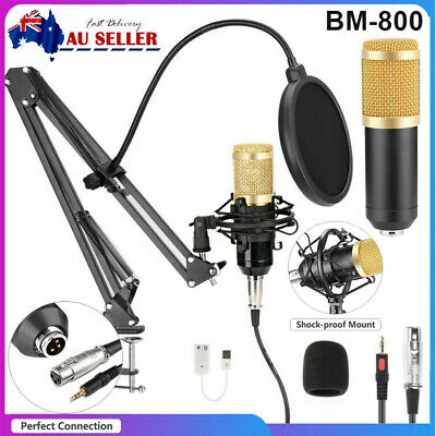 AU45.99 • Buy BM-800 Computer Condenser Podcast Microphone For PC/ Gaming/Recording/Streaming