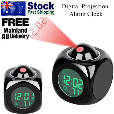AU14.88 • Buy Smart Digital LED Projection Alarm Clock Temperature Time Projector LCD Display