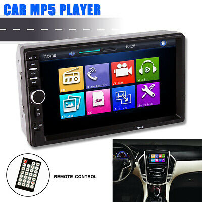 AU49.99 • Buy 7'' 2 Din MP5 Radio Player Double Car Stereo Head Unit LCD Touch Screen AUS