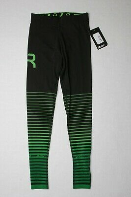 2XU Women Elite Recovery Compression Tights XL Black / Green Generation 1 WA441 • 66.23£