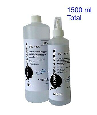 AU25.50 • Buy Isopropyl Alcohol 100% IPA Isopropanol 1.5L 1 Litre + 500ml Finger Sprayer