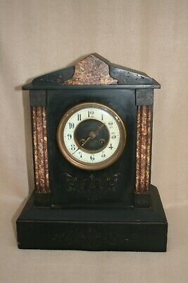 Antique French Slate And Marble Striking Mantel Clock For Tlc • 85£