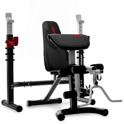 £269.99 • Buy Viavito Olympic Barbell Bench TX1000 GT 2 Piece Weight Bench W/ Squat Stand
