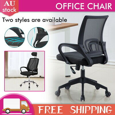 AU67 • Buy Gaming Chair Office Chair Computer Mesh Chairs Executive Work Study Seat Black