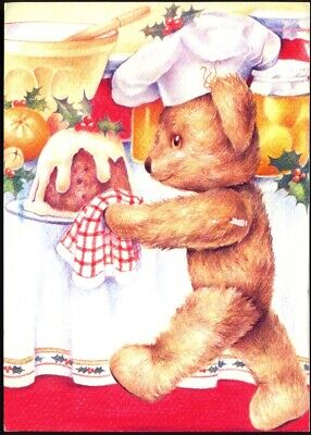£2.95 • Buy Modern Postcard: Teddy Bear Brings In The Christmas Pudding. Free UK Postage