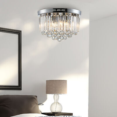 £59.99 • Buy Luxurious Crystal Ceiling Light Chandelier For Living Room Kitchen Hall Silver