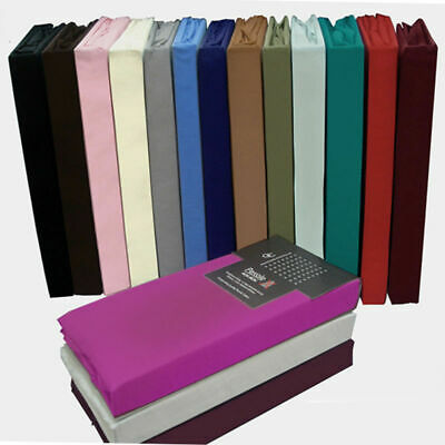 Fitted Sheet Bed Single Double Super King Size PolyCotton Mattress Cover Deep • 9.25£