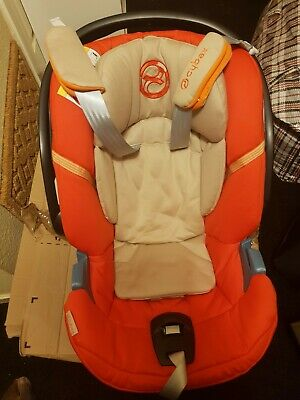 Mamas And Papas Cybex Aton 4 Orange Infant+ Carseat + Adaptors. Very Clean. • 50£