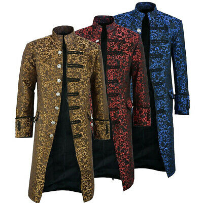 Mens Steampunk Vintage Tailcoat Jacket Gothic Victorian Costume Coat Outwear • 27.60£