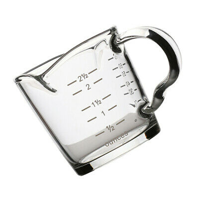 Two-mouth Espresso Cup With Scale Temperature Resistant Glass Measuring Cup • 5.65£