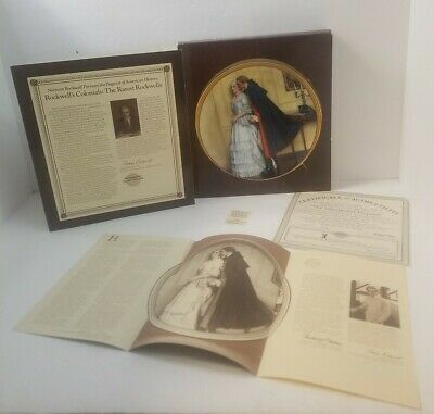 $ CDN27.50 • Buy Norman Rockwell Unexpected Proposal Plate 1986 Edwin Knowles Christmas Gift Idea