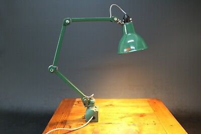 Industrial EDL 3 Arm Anglepoise Machine Workshop Factory Desk Lamp 1930s 40s  • 245£