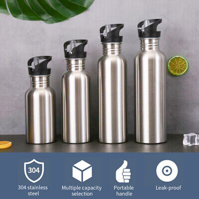 AU18.04 • Buy 500/750/1000ml Sports Water Bottle Stainless Steel Gym Cycling Hiking Drinkware