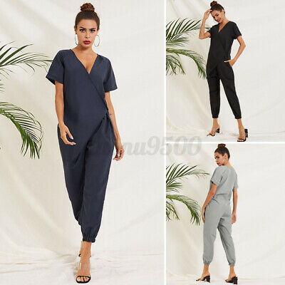 AU17.85 • Buy AU STOCK Women Summer Overalls Playsuit Jumpsuits Dungarees Plus Size Rompers