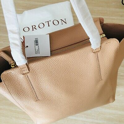 AU245 • Buy Brand New! OROTON $329 Tote Bag Women Handbag Tan Pebble Leather Avalon Fab Gift
