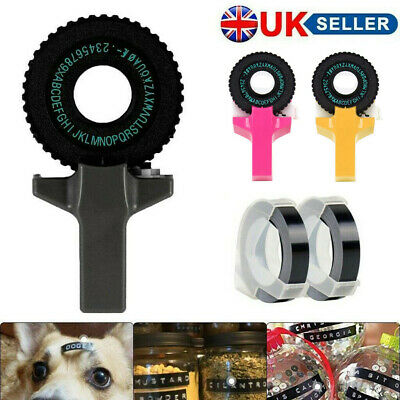 Manual Embossing Label Maker Letter Typewriter Printer Refill With Free 2 Tapes • 9.99£