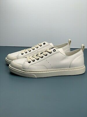$110 • Buy Coach Authentic Mens Casual White Leather Shoes Size 9.5 G1646