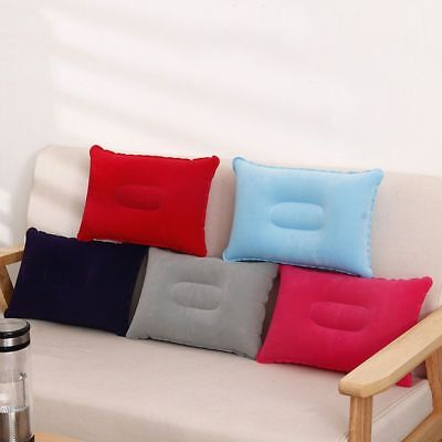 AU3.80 • Buy Double Sided Inflatable Pillow Mat Cushion For Camping Travel Sleep Sale