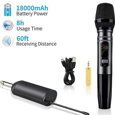 AU34.99 • Buy Professional Microphone Wireless UHF Channel Mic System Dual Handheld Party