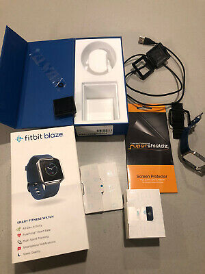 $ CDN75.76 • Buy Fitbit Blaze (FB502) Fitness Activity Tracker - Box, Charger, Large Blue Band