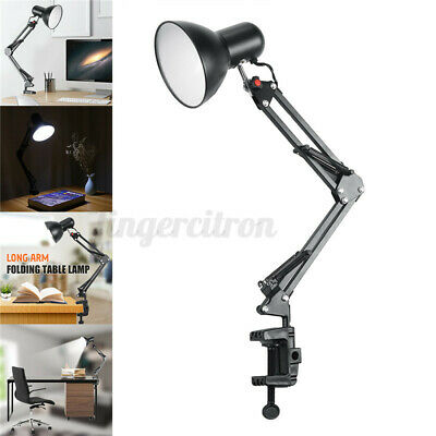 AU22.32 • Buy Adjustable Long Swing Arm Desk Lamp Clamp Clip On Table Light Reading Lamp