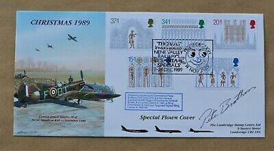 £14.95 • Buy Christmas 1989 'spitfire' Concorde Flown Fdc Signed By Ww2 Pilot Pete Brothers