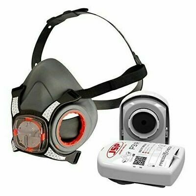 JSP Force 8 (Medium) Protective Safety Mask P3 PressToCheck Filters Included • 20.99£