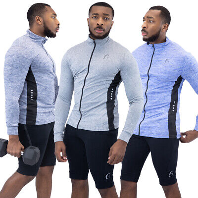 Mens PowerLayer Compression Baselayer Thermal Running Gym Sports Top Long Sleeve • 5.50£