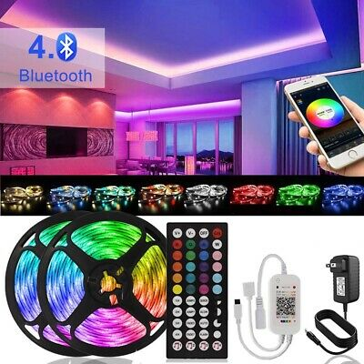 $22.67 • Buy 32.8FT Led Strip Lights 5050 RGB Bluetooth Room Light Color Changing With Remote