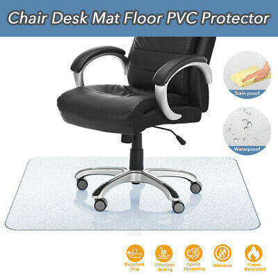 AU32.99 • Buy PVC Office Chair Mat Plastic Carpet Oversized Hard Floor Protector Home Office