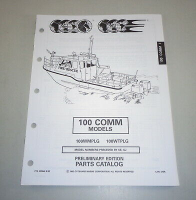 AU31.05 • Buy Parts Catalog Omc Evinrude Johnson Outboard Motor 100 Comm Models Stand 08/1992