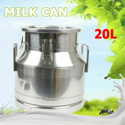 $92 • Buy 20L Stainless Steel Milk Can Wine Pail Bucket Tote Jug Oil Dairy Pot Bucket USA